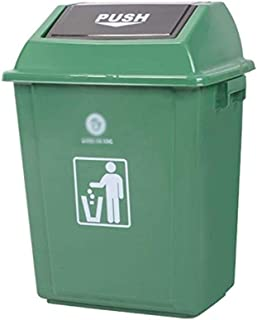 ZXJshyp Trash Bin Home Large Covered Kitchen Commercial Hotel Flip Living Room Dining Room Toilet School Outdoor Trash Can...