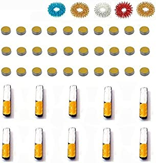 ACS/ACM Sujok Therapy Acupressure Byol Point Set of 30 + Bar Set of 10 Magnets + Finger Massager Rings Set of 5 Byol Point Magnet - 5Mm Dia, Bar Magnets L X W X H – 15 X 3 X 2Mm Magnets