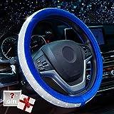 Alusbell Crystal Diamond Steering Wheel Cover Soft Velvet Feel Bling...