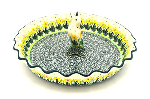 Polish Pottery Pie Set - Daffodil