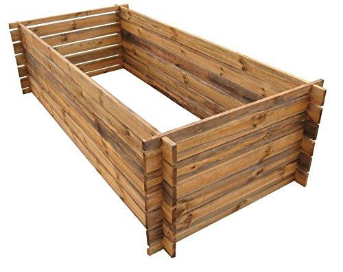 naturholz-shop Stabiler Holzkomposter Komposter Kompostbehälter imprägniert Hochbeet 170 x 85cm 19