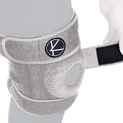 Adjustable Knee Brace Support - Plus Size Knee Brace for ACL, MCL, LCL, Sports, Meniscus Tear. Open Patella Knee Brace for Arthritis Pain and Support for Women, Men, Youth (XL / 2XL / 3XL Gray)