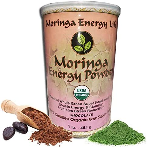 Moringa Energy Powder Chocolate 1lb Feel Energy Health by ingesting This 100 Pure and Natural product image