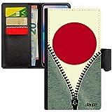 utaupia Coque Drapeau Japon Japonais iPhone XS Max Simili Cuir Rugby Jeux Olympiques Football Bumper Telephone Foot Jeans Basket Noir Apple