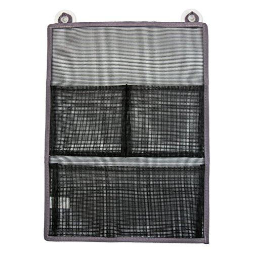 DII CAMZ35647 Mesh Bathroom Shower Suction Organizers Perfect for Toys Toiletries Laundry Room Under The Sink