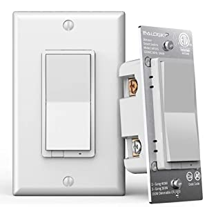 3-Way Smart WiFi Light Switch, On/Off Control, in-Wall, No Hub Required, Compatible with Alexa/Google Home/SmartThings, ETL and FCC Listed (WF30S)