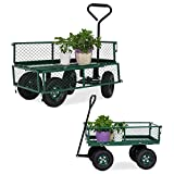 Kinbor Utility Wagon Cart Rolling Garden Cart Yard Carts and Wagons with Handle and Wheels