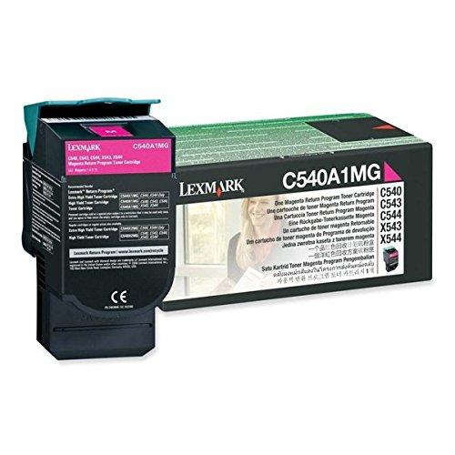 Lexmark C540A1MG C540, C543, C544, X543, X544 Tonerkartusche 1.000 Seiten Rückgabe, magenta