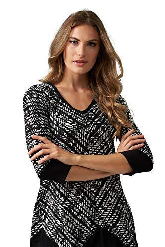 Joseph Ribkoff Damen Bluse Größe 46 EU Schwarz (schwarz/weiß)