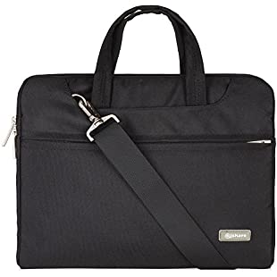 Qishare 13 13.3 14 inch Multifunctional Laptop Bag with Multiple Compartment for Men Women Compatible ASUS ZenBook, Apple MacBook Air, Samsung Chromebook 3 13.3-inch, HP 14-inch Laptop(black, 13.3)