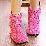 Zapatillas De Casa Hombre Divertidas,Botas Cortas para Mujer, Zapatillas De AlgodóN De Dibujos Animados, Bolso De OtoñO E Invierno con Zapatos Gruesos Y CáLidos Antideslizantes, Zapatillas Impermeabl