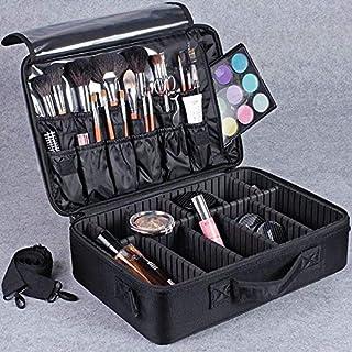 Large Capacity Makeup Brush Bag Case Cosmetic Pouch Storage Handle Organizer Travel,black