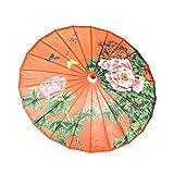 ASIAN HOME sombrilla de Papel aceitado Chino Hecha a Mano, Impermeable, 33 Pulgadas, peonía