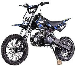 X-PRO 110cc Dirt Bike Pit Bike Kids Dirt Pitbike 110 Dirt Pit Bike (Blue)