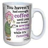 Hilarious Aunty Acid Sewing Machine Large Coffee Mug, 15-Ounce Cup lm43798 - Funny, Unique, Gag Gifts for Coffee Lovers, Office - Tree-Free Greetings