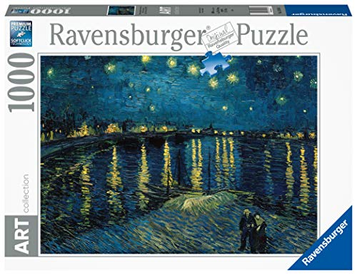 Ravensburger - Art: Van Gogh - Noche Estrellada Rompecabezas de 1000 Piezas, Multicolor, 15614