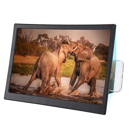 Lupa de Pantalla, Diseño Plegable Antideslizante Pantalla Curva de 12 Pulgadas para Teléfono Móvil Lupa Amplificador de Video HD Soporte para Teléfono Celular