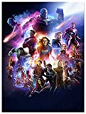 Marvel Poster Wall Art Avengers Infinity War Superheroes Movie Painting Canvas Print for Children Kids Room Home Decor Fans Gift 18x24inch Unframed