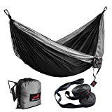 HONEST OUTFITTERS Double Camping Hammock with Hammock Tree...