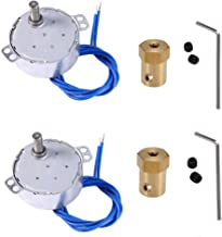 Synchronous Synchron Motor,Turntable motor, Electric motor with 7mm Flexible Coupling Connector,110V motor, 50/60Hz AC 100~127V 4W CCW/CW For Hand-Made, School Project, Model- 2 Pack (5-6RPM)