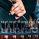 Homestia Cocktail-Set mit Cocktailgläsern, 4 Stück: 24,5 Unzen dickes Rührglas, Hawthorne Cocktailsieb, Doppel-Messbecher, Barlöffel, Silber M Silver - 7