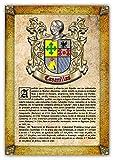 Historia y Origen del Apellido Cavanillas | Lámina Impresa en Alta resolución + Certificado de Garantía + Plantilla Árbol Familiar de 6 Generaciones