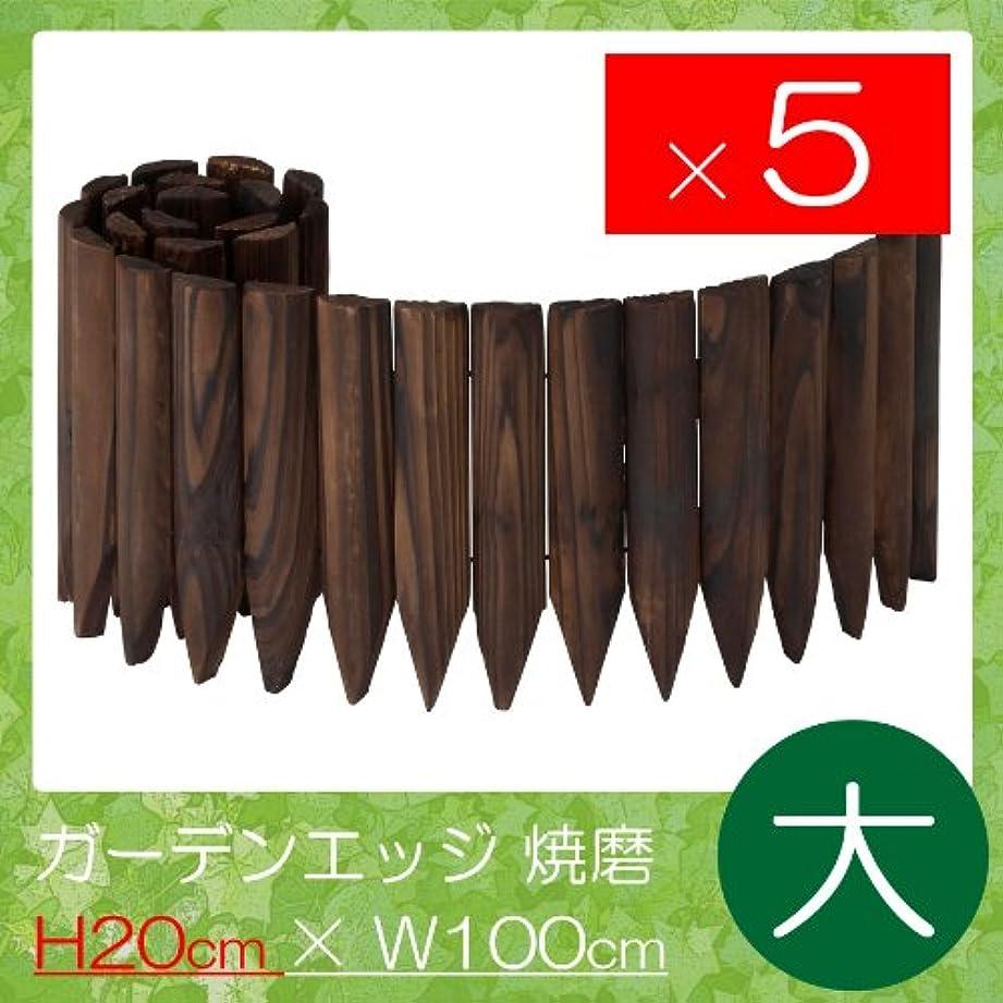 ベッツィトロットウッドワークショップ変装したガーデンエッジ 焼磨(大) 高さ20×幅100cm 5枚セット