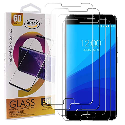 Guran 4 Pezzi Pellicola Protettiva in Vetro Temperato per UMIDIGI Z/UMIDIGI Z PRO Smartphone 9H Durezza Anti-Impronte HD Alta Trasparenza Pellicola