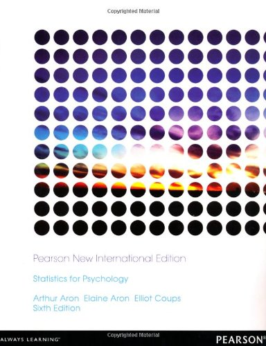 Statistics for Psychology: Pearson New International Edition