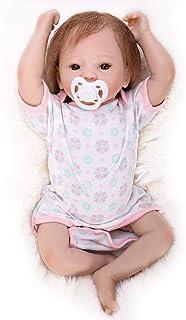 Hongge Reborn Baby Doll, MuñEca Reborn, MuñEco De Vinilo Suave De Silicona, Bebé