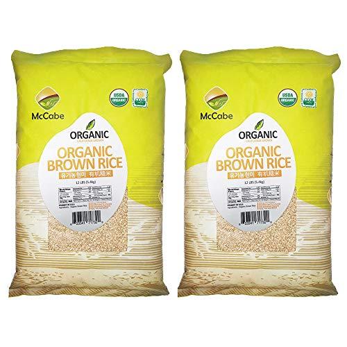 McCabe Organic Brown Rice 12 Lbs Bundle (2 Bags of Brown Rice)