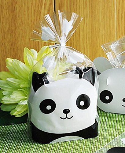 YunKo 100-Pack Panda Sweet Cookie Candy Party Gift Wrapping Packaging Bags (6.3 x 7.9)