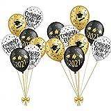 SUNBEAUTY Abschlussfeier Luftballons Graduation Dekoration 2021 Abi Bachelor Graduierung Party (15er Set)