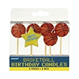 Amscan 170707 Basketball Birthday Toothpick Candle Set | 6 pieces