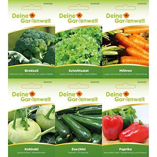 Gemüsesortiment | Gemüse-Set mit 12 Sorten Samen | Gemüsesamen-Sortiment | Saatgut für den Gemüsegarten - 3