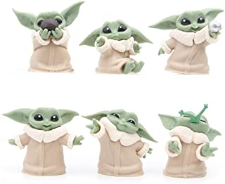 6-Pack Baby Yoda Gifts,2.2-Inch Baby Yoda Doll,Baby Yoda Toys for Kids,Baby Yoda Action Figure,Child Yoda Toy, Suitable fo...