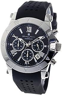 [サルバトーレマーラ] クロノグラフウォッチ 10気圧防水 メンズ 腕時計 クォーツ ラバーベルト ブラック 流通限定 SSBK