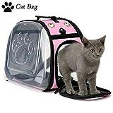 Legendog Cat Travel Bag,Breathable Folding Kitten Carrier Bag,Transparent Handbag for Pet Cats Rabbit Comfort...