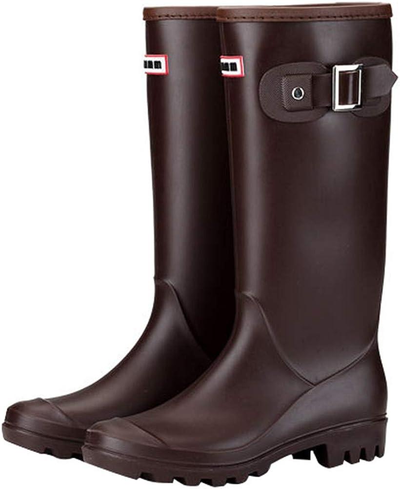 FENIKUSU Women's Sales of SALE items from new works Los Angeles Mall Waterproof Rain Fashion Mid-top Antiskid Boots