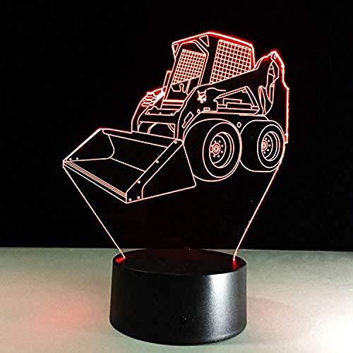 Optische Täuschung Lampe Acryl Panel Bulldozer Ausgraben 3D Lava Lampe 7 Farben Ändern Led Nachtlicht Stimmung Dekor Geburtstagsgeschenk Schlafzimmer Tischlampe