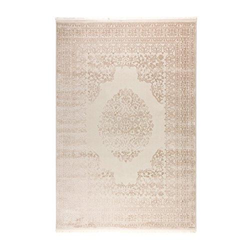 havatex Moderner Teppich Craft Centerpiece - Farbe: Wählbar | robuste, strapazierfähige und Pflegeleichte Kunstfaser | schadstoffgeprüft mit Öko-Tex Siegel, Farbe:Beige, Größe:120 x 170 cm