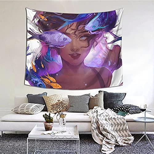 Tapiz abstracto para colgar en la pared, para ventana, decoración del hogar, para dormitorio, collage y oficina, 152 x 152 cm