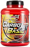AMIX - Complemento Alimenticio - Carbojet Basic - Carbohidratos y Proteínas para Aumentar la Masa Muscular - Con Concentrado de Proteína de Suero -Recuperador Muscular - Sabor Vainilla - 3 KG