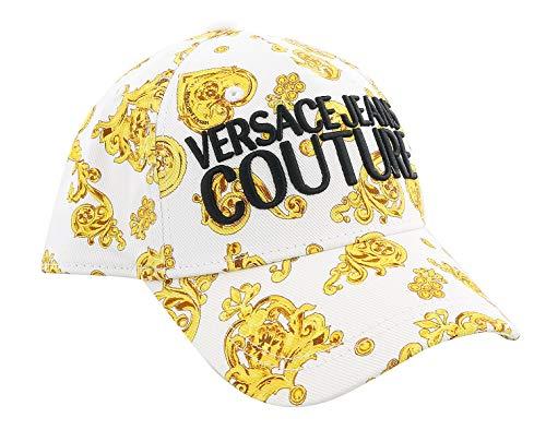 VERSACE JEANS COUTURE Herren Gold Baroque Cap Bianco
