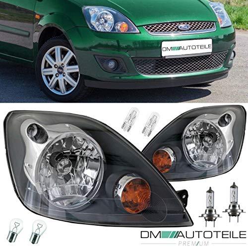 DM Autoteile Fiesta JD JH MK6 Scheinwerfer SET H4 Facelift Klarglas 01-08 + Birnen SET