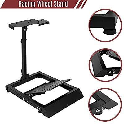 Marada G920 Racing Wheel Stand Sim Adjustable for Lgitech G25, G27, G29, G920 Racing Simulator Wheel Stand Thrustmaster Wheel Stand Pro Wheel and Pedals Not Included