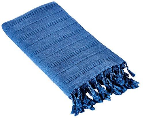 Cacala PES-MIKROCOTON-BLUEPestemal Turkish Bath Towels 37x70%100 CottonTM by Blue