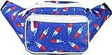SoJourner Bags riñonera uno tamaño bombpop USA el 4 de Julio