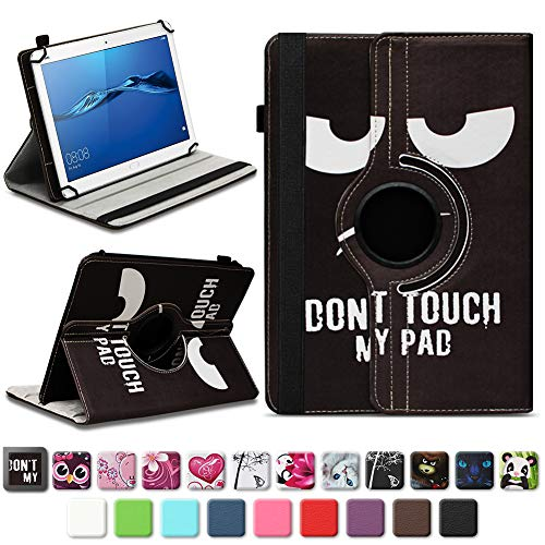 NAmobile Schutzhülle kompatibel für Huawei MediaPad T1 T2 T3 T5 10 Tablet Hülle Tasche Schutzhülle Case 360 Drehbar, Farben:Motiv 5