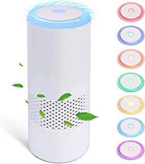Portable Air Purifier for car,Real HEPA,Active Carbon Filter with Negative Ion Generator, ionizer air freshener USB,Air Cl...
